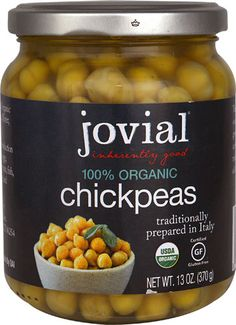 Jovial Organic Chickpeas -- 13 oz - Vitacost