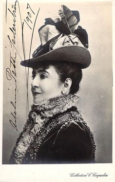 Patti, Adelina - Signed Photo Postcard 1907