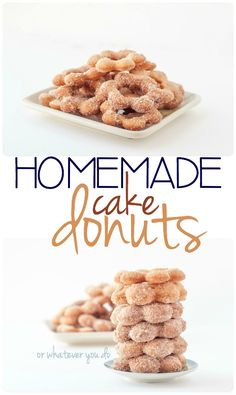 Homemade Cake Donuts - EASY EASY EASY and so delicious!