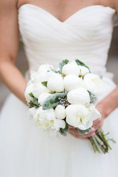 White Peony and Succulent Bouquet | photography by http://emiliajanephotography.com/  ( This size bouquet )