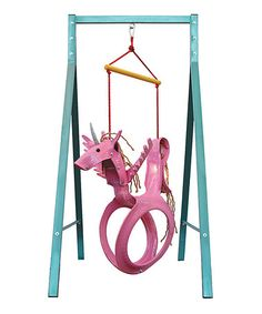 Look what I found on #zulily! Pink Unicorn Tire Swing #zulilyfinds