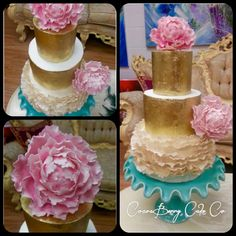 Pink, ruffles and gold
