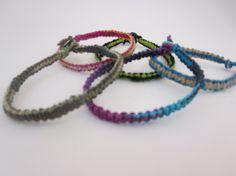 Made to Order Hemp Square Knot bracelet you by BrokenBuddhasHouse, $4.00