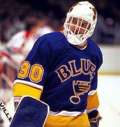 Rick Wamsley Hockey Goalie, Hockey Players, Ice Hockey, Blues Nhl, Goalie Mask, St Louis Blues, Boston Bruins, Coaching, Long Live