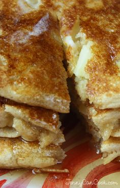 Whole Wheat Apple Pancakes recipe from Jenny Jones (JennyCanCook.com)