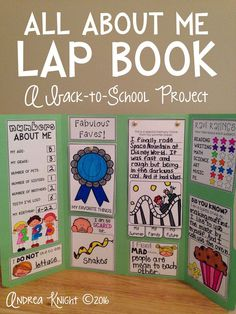 """This """"All About Me"""" Lap Book is a great getting-to-know-you, back-to-school project for kids in grades 2-5. The open-ended, interactive pieces allow children to respond at their own developmental levels. $"""
