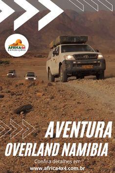 Você já sonhou em fazer um safári na África? Conheça nosso roteiro dos sonhos na Namíbia. São 13 dias explorando parques nacionais, conhecendo as paisagens incríveis usadas como cenário em muitos documentários e filmes para o cinema. E tudo isto com a fauna africana para ser vista de perto e registrada em lindas fotos e no coração. Viagem em picapes 4x4, com grupos até 15 pessoas. Programe-se para 2021, a pandemia vai passar, poderemos viajar e explorar novamente! 4x4, Off Road, Cinema, Vehicles, National Parks, Pickup Trucks, The Journey, Close Up, Screenwriting