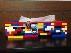 ティッシュケースをレゴで作って見ました^_−☆