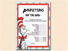 predictions-for-baby dr seuss baby shower, cat in the hat baby shower ...