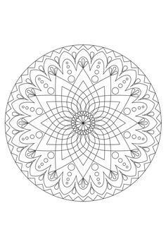 Euphorbia Flower Mandala - as template for embroidery