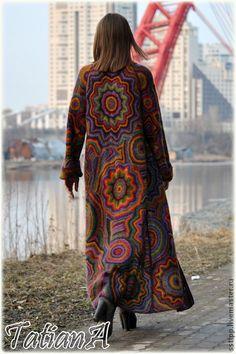"""Верхняя одежда ручной работы. Ярмарка Мастеров - ручная работа Вязаное пальто """"Super Kaleidoscope"""". Handmade."""
