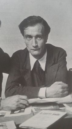 Antonin Artaud with Edgar Varèse, Photo by Rogi André, 1933.
