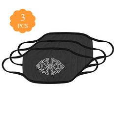 Celtic Knot Black Mouth Mask (Pack of 3) Irish Celtic, Celtic Knot, Sold Out Sign, Irish Design, Celtic Tree Of Life, Mouth Mask, Order Prints, Drawstring Backpack, Knots