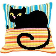 "Ms. Cool Stamped Cross Stitch Pillow Cushion Kit 16"" x 16"""