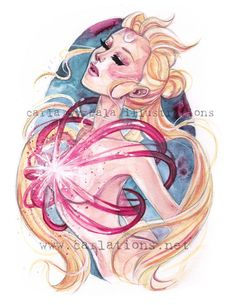 Sailor Moon Watercolor Fan Art http://geekxgirls.com/article.php?ID=7967