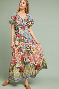 See this Farm Rio Helja Maxi Dress from Anthropologie. Maxis, Vetement Hippie Chic, Anthropologie Clothing, Anthropologie Uk, Farm Rio, Maxi Robes, Floral Maxi Dress, The Dress, Dress To Impress