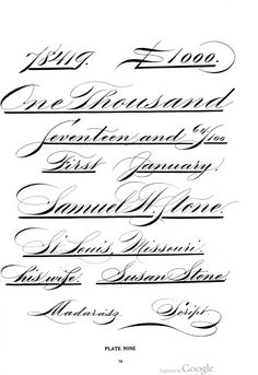1000 Images About Spencerian Hand Writing On Pinterest