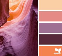 color carved - wow! sensational orange, coral, purple palette!