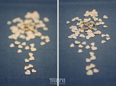 rings and heartshape confetti - www.myrakel.be