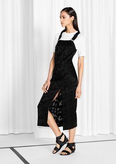 & Other Stories image 2 of Jacquard Dress in Black