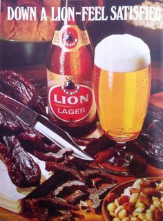 Not around today, but not long ago it was one of South Africa's favourites. A Lion Lager. Biltong will NEVER go away, though.