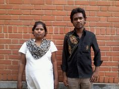Renu and her brother-in-law as she was discharged into the care of her family, thanks to the hard work of 2 case managers, Deepthi and Pavithra. At The Banyan, Chennai.