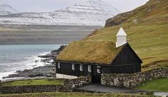Funninger Church, in the village of Funningur, is one of the 10 old wooden churches in the Faroe Islands. It was inaugurated on 30 November 1847 and is for that... Get more information about the Funningur Church on Hostelman.com #attraction #Faroe #Islands #landmark #travel #destinations #tips #packing #ideas #budget #trips