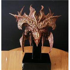 Original Diablo head sculpture prototype copper color model Geometry holder and Skeleton holder hand-made