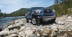 4x4 Double Cab shown in Nautical Blue Metallic #Toyota #Tacoma