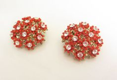 Vintage 1960s  Red Floral Cluster fand by ThePookiesJewelryBox, $5.95