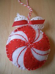 Darling peppermint candy Christmas  ornament.