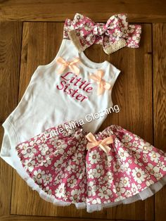 Personalized pink Daisy Tutu Skirt, Vest & Headwrap by LittleNinaClothing on Etsy