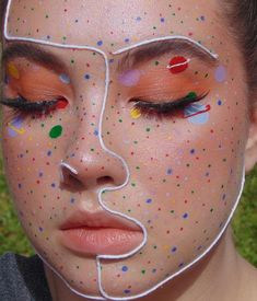 130 festival&party make-up ideas 20 Eye Makeup Art, Makeup Inspo, Eyeshadow Makeup, Makeup Inspiration, Makeup Ideas, Hair Makeup, Face Paint Makeup, Clown Makeup, Beauty Makeup