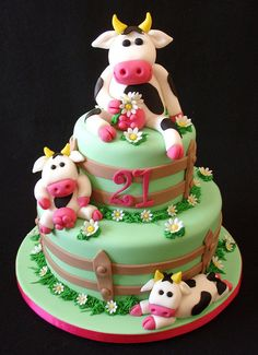 I so want a cake like this for my next birthday!!!!  Cow Cake by Takes the Cake, via Flickr