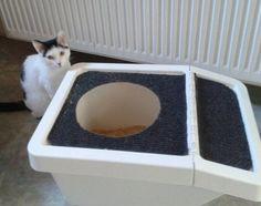 genius diy ikea hack cat top entry litter box, repurposing upcycling, wildlife animals, after happy cat happy owner
