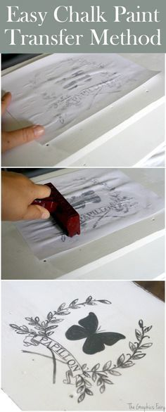 Easy Chalk Paint Transfer Method. This is a super simple technique to add image transfers to DIY furniture projects!