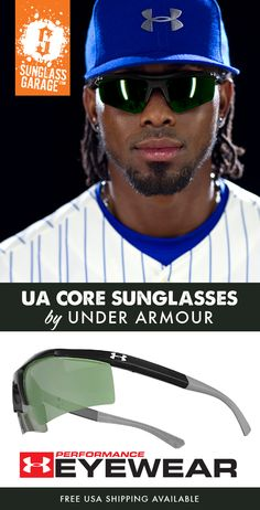 b1a0237c20a2 Under Armour CORE Sunglasses are the ultimate sport sunglass, built strong  for on-field