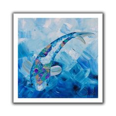 'Blue Koi' by Shiela Gosselin Canvas Poster