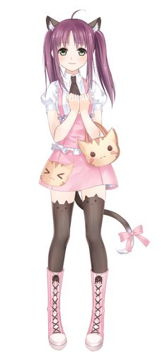 cat girl kawaii anime
