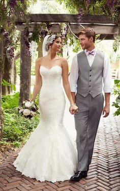 D1846 Sweetheart Neckline Wedding Dresses by Essense of Australia