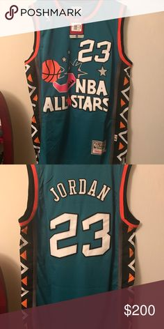 Jordan authentic 1996 NBA all-star Jersey Brand new with tags Michael Jordan  Mitchell and Ness 1996 NBA all-star Jersey men s large Mitchell   Ness Other d81e35da3