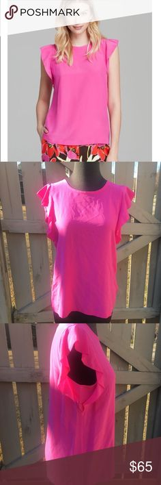 Kate Spade This is the Kate Spade pink trill shell. It is absolutely beautiful. Has never been worn. Great for the summer. kate spade Tops Blouses