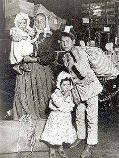 Immigrants entering Ellis Island