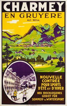 Charmey En Gruyère, Suisse ~ 1930. Charmey Gruyere, Switzerland In 1930,....