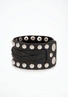 Stud & Leather Cuff
