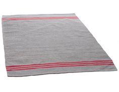 Taino-matto 140 x 200 Harmaa/punainen