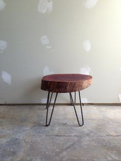 Reclaimed Eucalyptus stump side end table. by triple7recycled