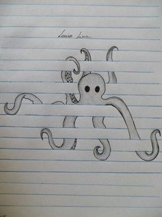 From (Raily Lima) Octopus. From (Raily Lima) wallpaperpinteres Octopus. From (Raily Lima) Octopus. From (Raily Lima) wallpaperpinteres Drawings ✏️ Octopus. From (Raily Lima) Octopus. From (Raily Lima) wallpaperpinteres Drawings ✏️ Cool Art Drawings, Pencil Art Drawings, Art Drawings Sketches, Tattoo Drawings, Cool Drawings For Kids, Easy Drawings Of Animals, Drawing With Pencil, Simple Art Drawings, Drawings On Lined Paper