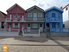 Costa Nova, in Aveiro, has some of the most unique houses in Portugal.