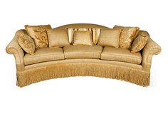 Century Furniture Bayview Curved 3 Cushion Sofa With